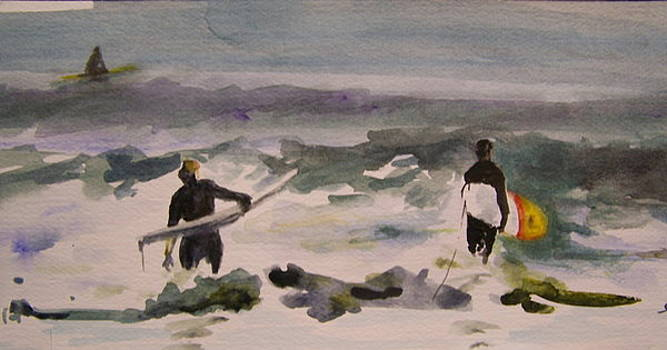 Sunday Surfers II by Susan Kneeland
