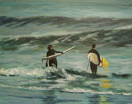 Sunday's Surfers by Susan Kneeland