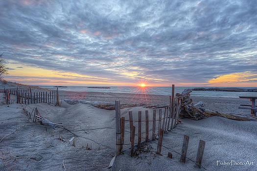 Sundown Fence by Brian Fisher