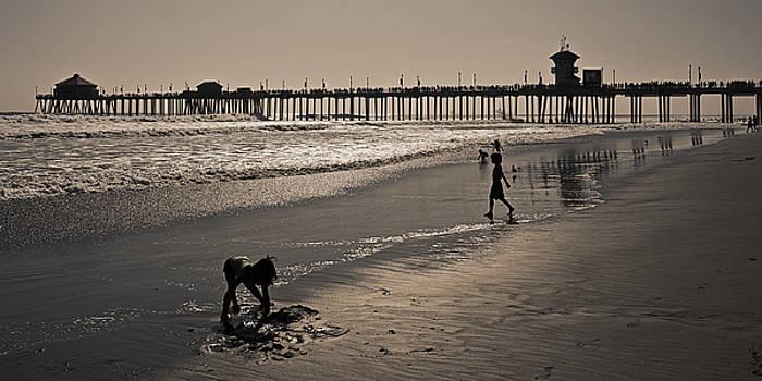Sundown Fun In The Sand by Ron Dubin
