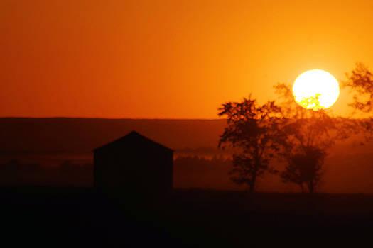 Sundown North of Williston by Jeff Swan
