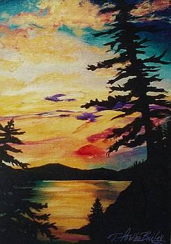 Sundown on Lake Almanor by Therese Fowler-Bailey