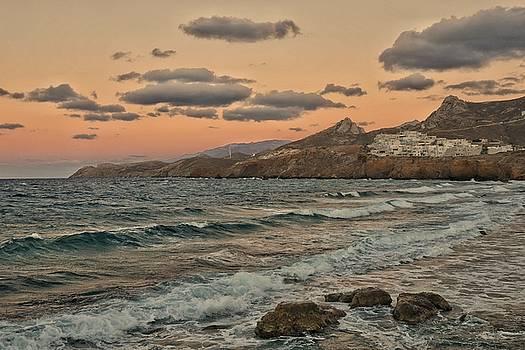 Sundown on Naxos, Greece by Steffani Cameron