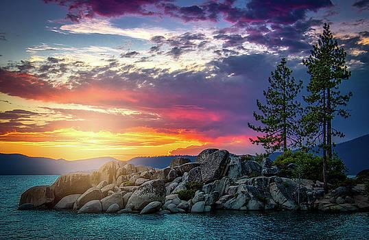 Sundown on Tahoe by Andrew Zuber