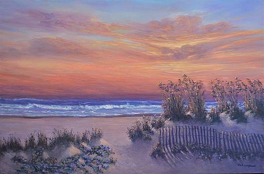 Sunrise Beach Painting Good Morning Glory by Amber Palomares