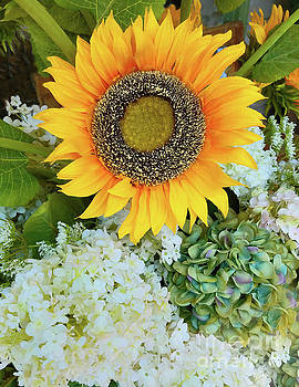 Sharon Williams Eng - Sunflower and Hydrangeas