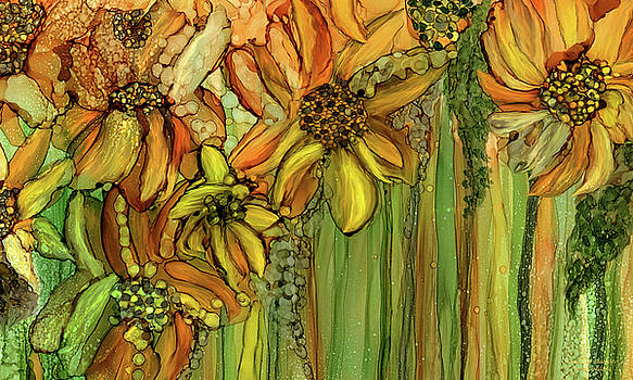 Sunflower Bloomies 3 - Golden by Carol Cavalaris