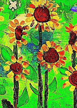 Sunflower Closeup by Angela Annas