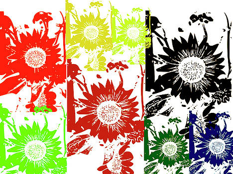 Sunflower Collage by Collette Rogers