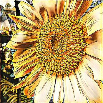 Sunflower in the Alley by Diane Miller