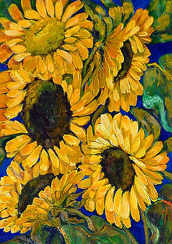 Sunflower Faces by Beverly Boulet