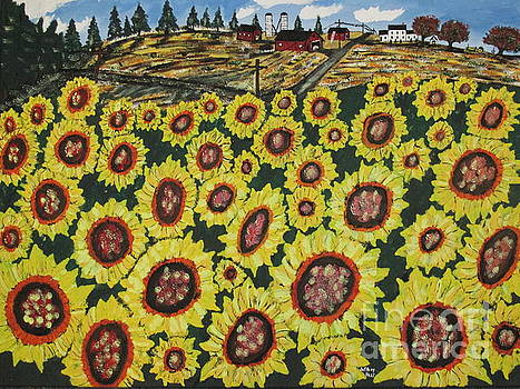Sunflower Fields  Forever by Jeffrey Koss