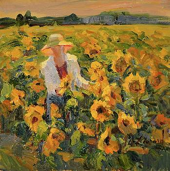 Sunflower Fields study by Diane Leonard