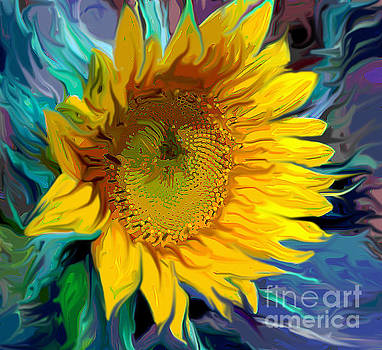 Sunflower for Van Gogh by Jeanne Forsythe