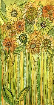 Sunflower Garden Bloomies 2 by Carol Cavalaris