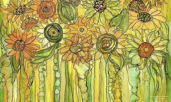 Sunflower Garden Bloomies 3 by Carol Cavalaris