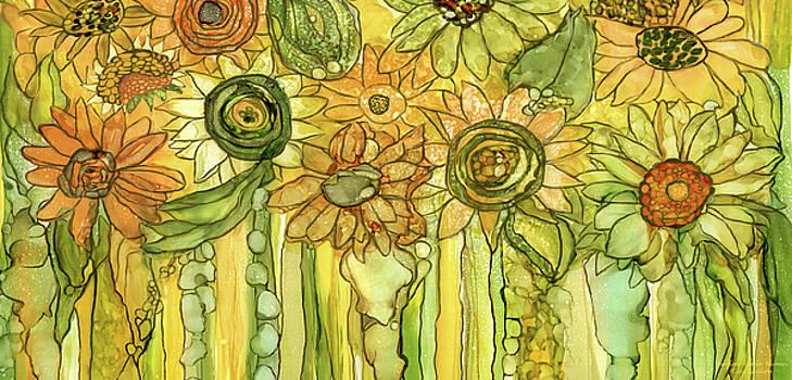 Sunflower Garden Bloomies 4 by Carol Cavalaris