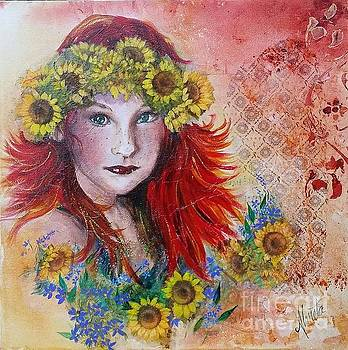 Sunflower Girl by Shirley Lennon