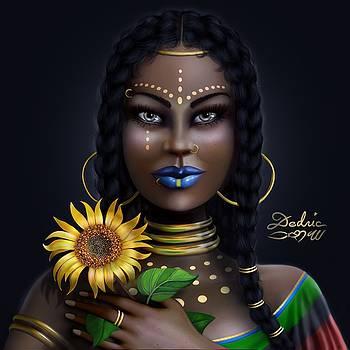 Sunflower Goddess  by Dedric Art