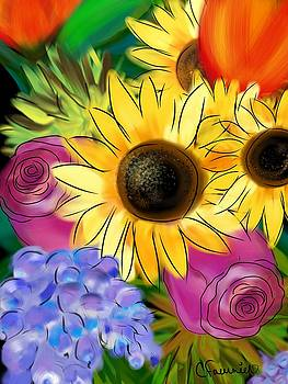 Sunflower happiness by Christine Fournier