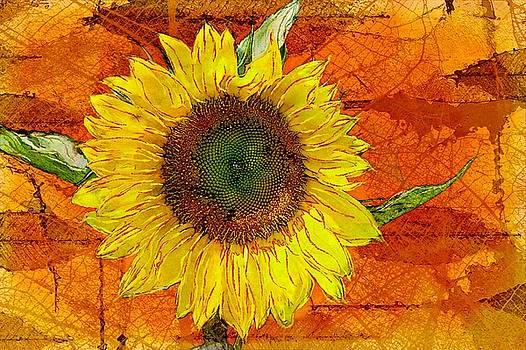 Sunflower Leaf Impressions by Barbara Chichester