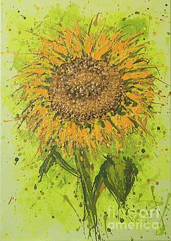 Sunflower Splatter by Alexandra Kiczuk