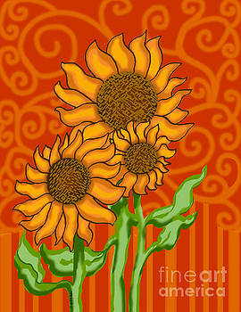 Sunflower Trio by Ceci Bahr