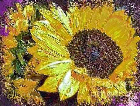 Sunflower Up Close by Diana Chason