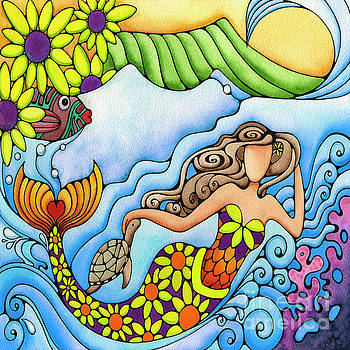 Sunflower Waikiki Mermaid by Holly Kitaura