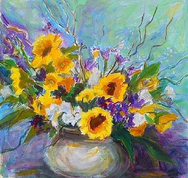 Sunflowers Among Others by Margaret  Plumb