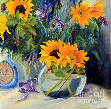 Sunflowers and Bowl by Patricia Huff