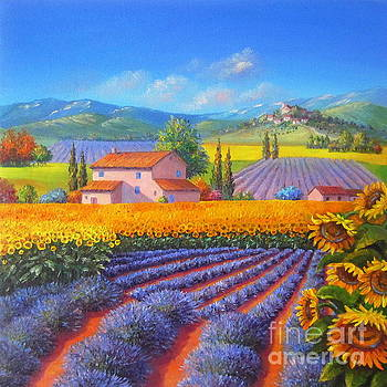 Sunflowers and Lavender by Elena Yalcin