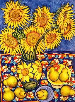 Richard Lee - Sunflowers and Pears