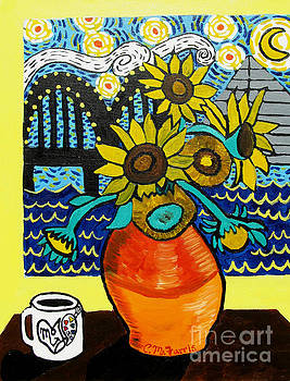 Sunflowers and Starry Memphis Nights by Christopher Farris