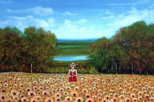 Sunflowers at Lake Wallenpaupack by Leonardo Ruggieri