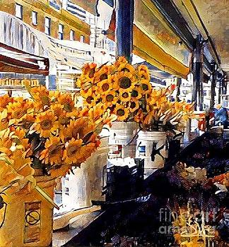 Sunflowers At The Market by Diana Chason