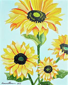 Sunflowers  by Donna Blossom