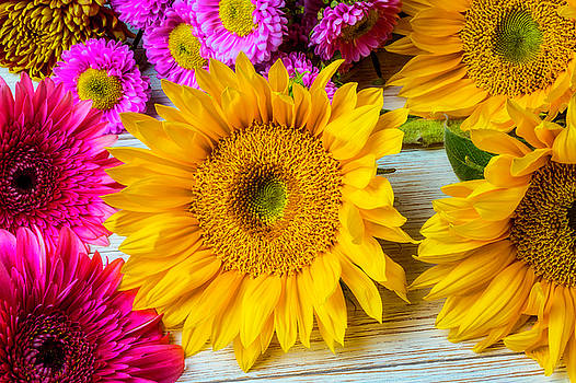 Sunflowers From the Garden by Garry Gay