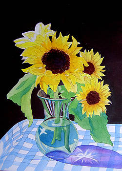 Sunflowers in Vase by Teresa Boston