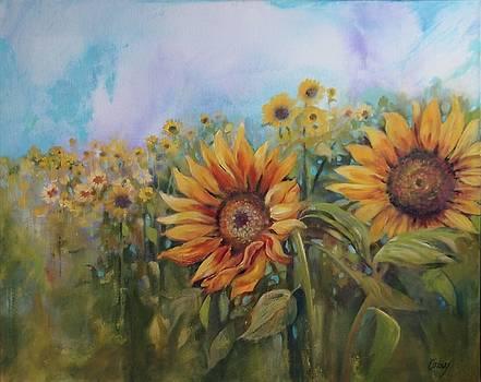 Sunflowers by Judy Osiowy