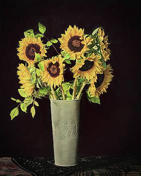 Sunflowers Still Life by Jerri Moon Cantone