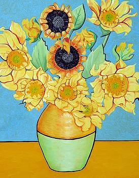 Christine Belt - Sunflowers Tribute to Vincent van Gogh II