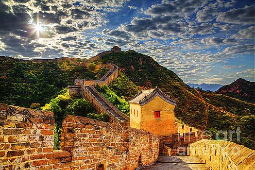 Sunlight in Jinshanling by Adrian Baljeu