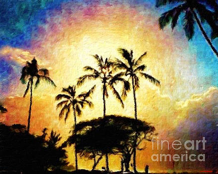 Sunlight In The Palm Trees by Jerome Stumphauzer