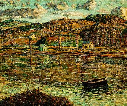 Peter Gumaer Ogden - Sunlight on the Harlem River 1919
