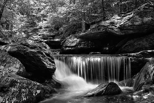 Sunlight On Waterfall by Greg Mimbs