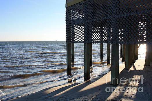 Sunlight Through the Pier by Danielle Groenen
