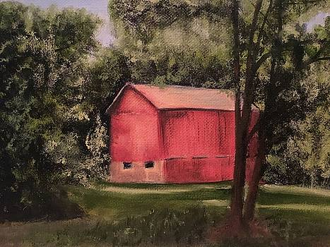 Sunlit Barn by Sharon Schultz