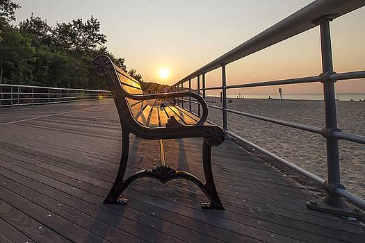 Sunlit Bench by Roderick Breem