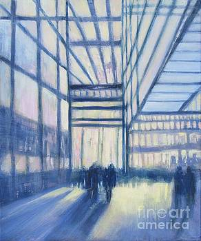 Sunlit Glass Building by Vivian Haberfeld